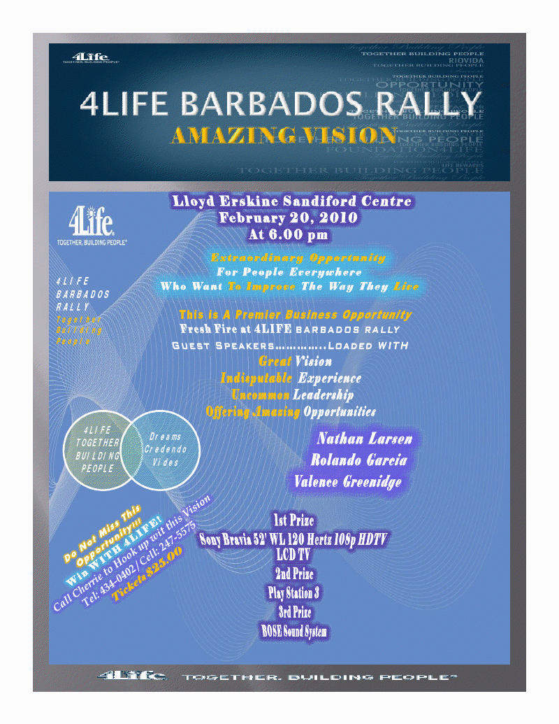 4 Life Barbados Rally – Amazing Vision