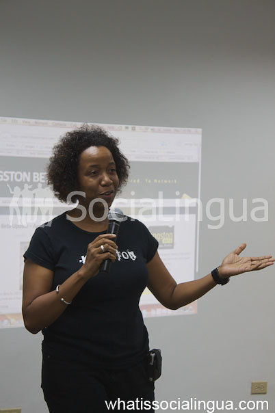 Ingrid Riley's Speaks on Social Media In Jamaica (With Her Client Digicel)