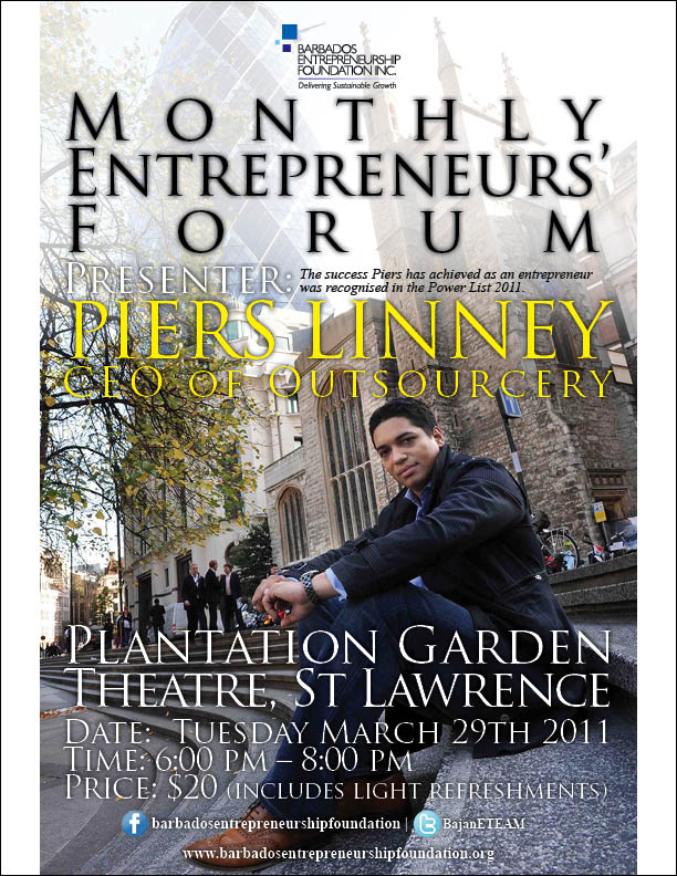 B.E.F. Brings Ace UK Entrepreneur Of Bajan Decent Piers Linney To Speak
